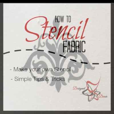 How to Stencil Fabric!
