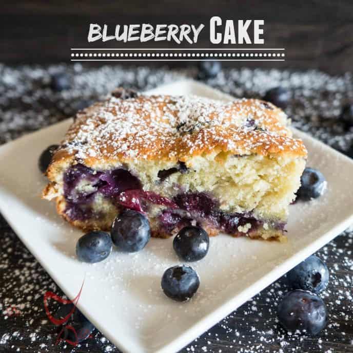 Fresh Blueberry Cake-