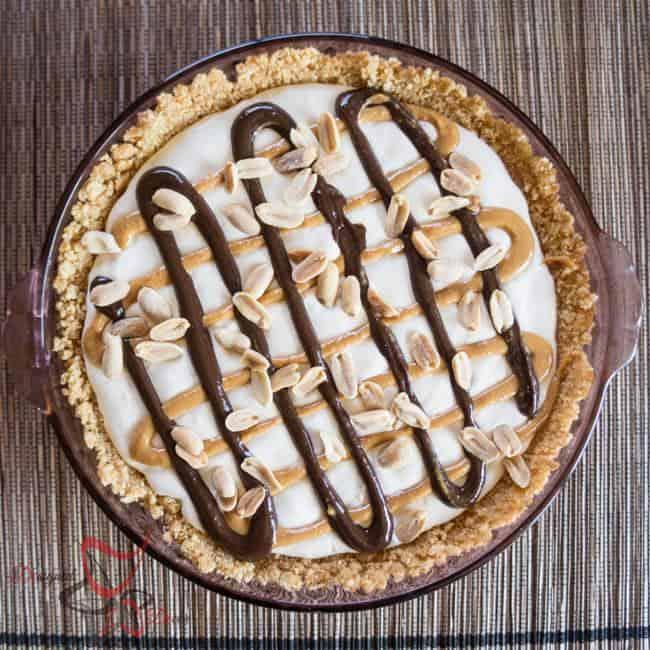 Frozen Peanut Butter Chocolate Parfait Pie-5