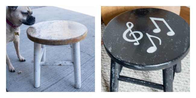 Music Note Stool- Furniture Makeovers