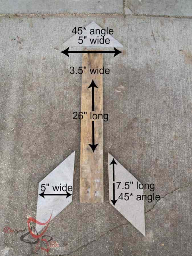 Pallet Arrows-measurements
