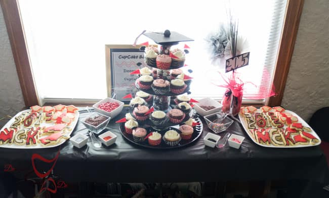 Graduation Party Planning- DIY-CupCake Stand-Table Decorations-Photo Booth-5