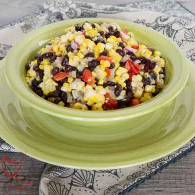Corn Salad with Lime Vinaigrette!