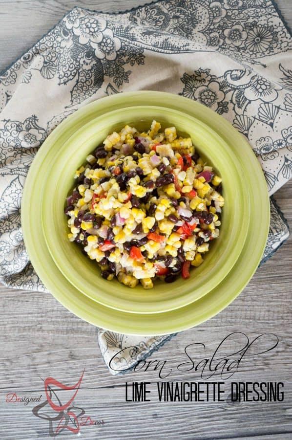 Corn Salad-Lime Vinaigrette