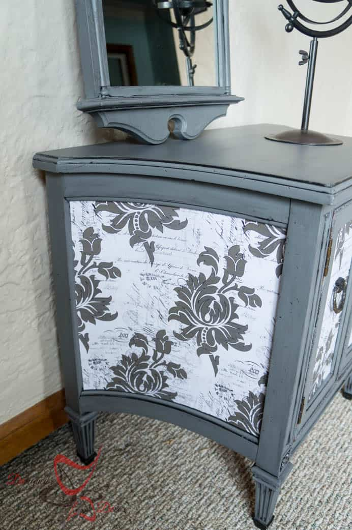 French decoupage side table-5