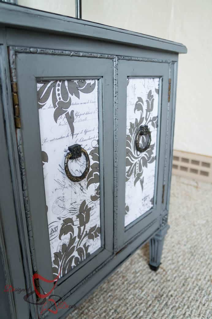 French decoupage side table-6