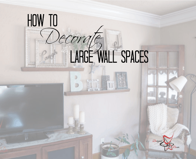 how to decorate a large wall designed decor