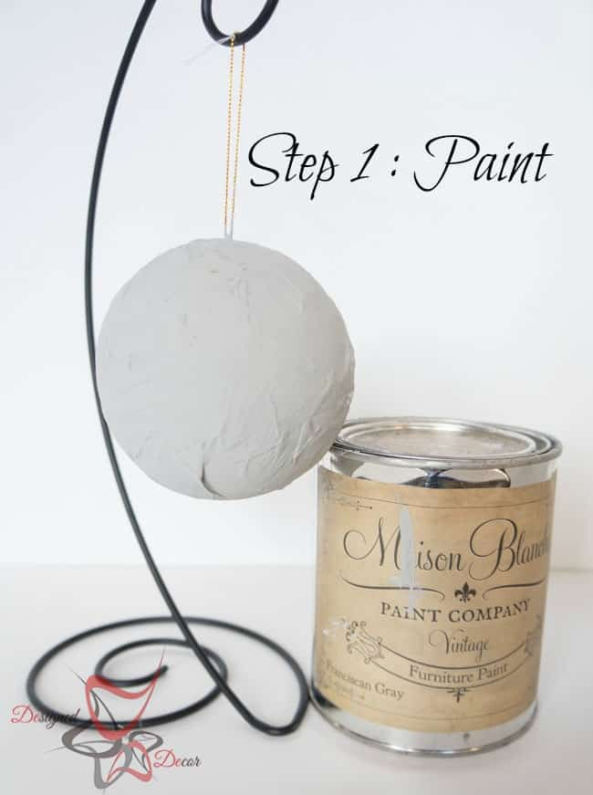 DIY- Christmas Ornaments- Maison Blanche-Organza-Christmas Decorating on a budget -step 1