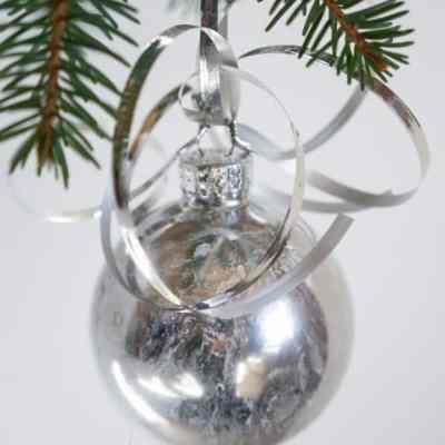 DIY Mercury Glass Ornament-Christmas Decorating on a Budget-Part 3!