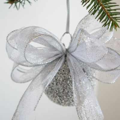 Styrofoam Ball Glitter Ornament- Christmas Decor on a Budget-Part 2!