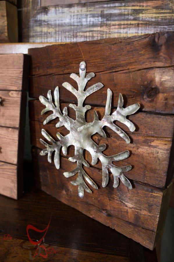 DIY-Wood Block Metal Snowflake - Holiday Decor- Wall Decor- (6 of 13)