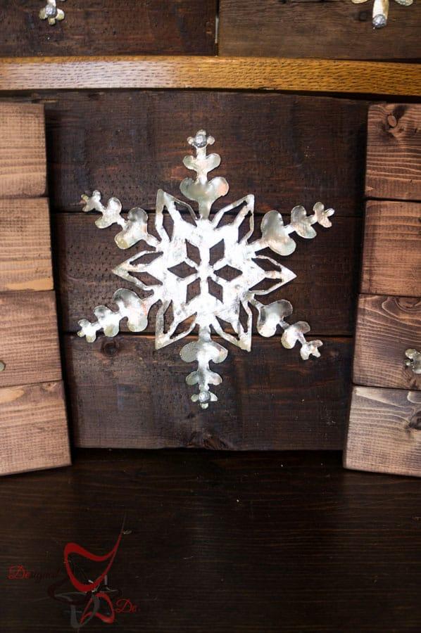 DIY-Wood Block Metal Snowflake - Holiday Decor- Wall Decor- (9 of 13)