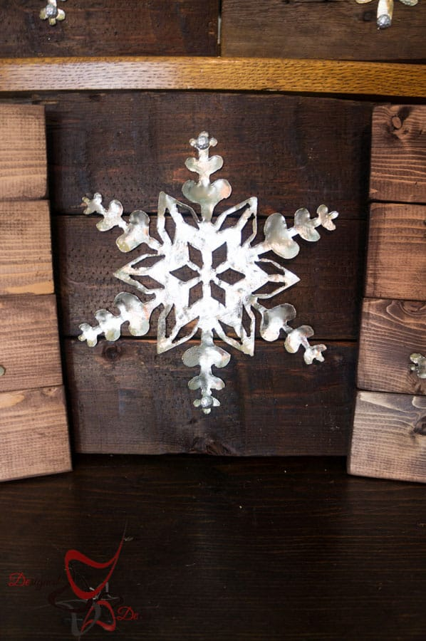 DIY-Wood Block Metal Snowflake - Holiday Decor- Wall Decor- (9 of 13)
