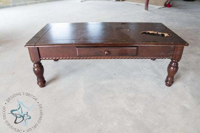 Diy Tufted Ottoman Coffee Table Repurposed Furniture Painted (1
