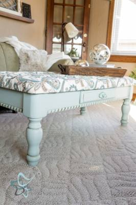 tufted coffee table bench