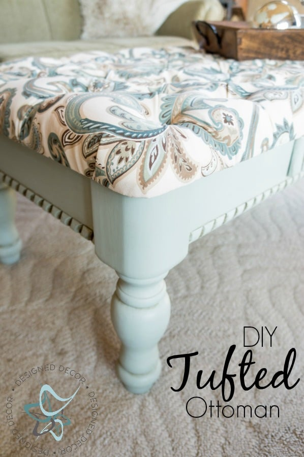 Diy-Tufted-Ottoman-Coffee Table-repurposed-furniture-painted pinnable