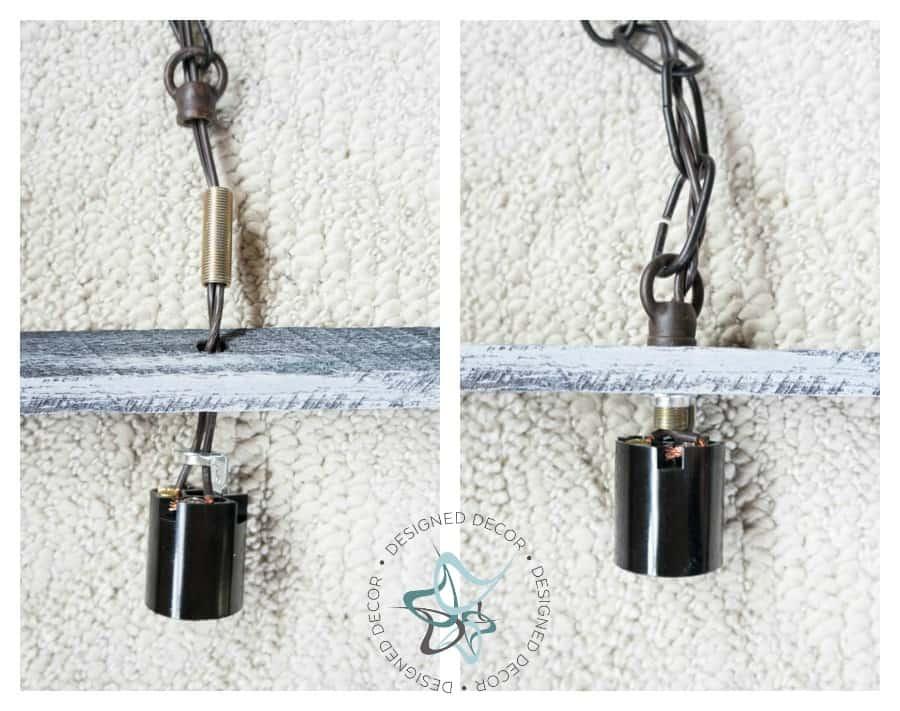 Pallet Hanging Light-Assemble light kit- Photo 7