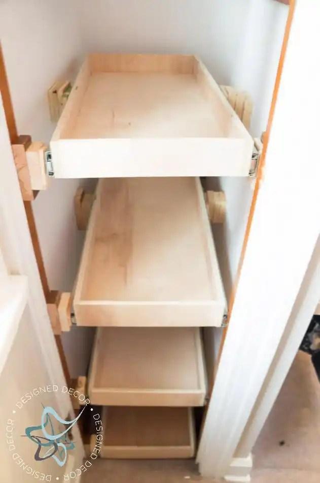 shoe closet   building pullout shelves    designed decor decorating ideas for shelves with corbels decorating ideas for shelves