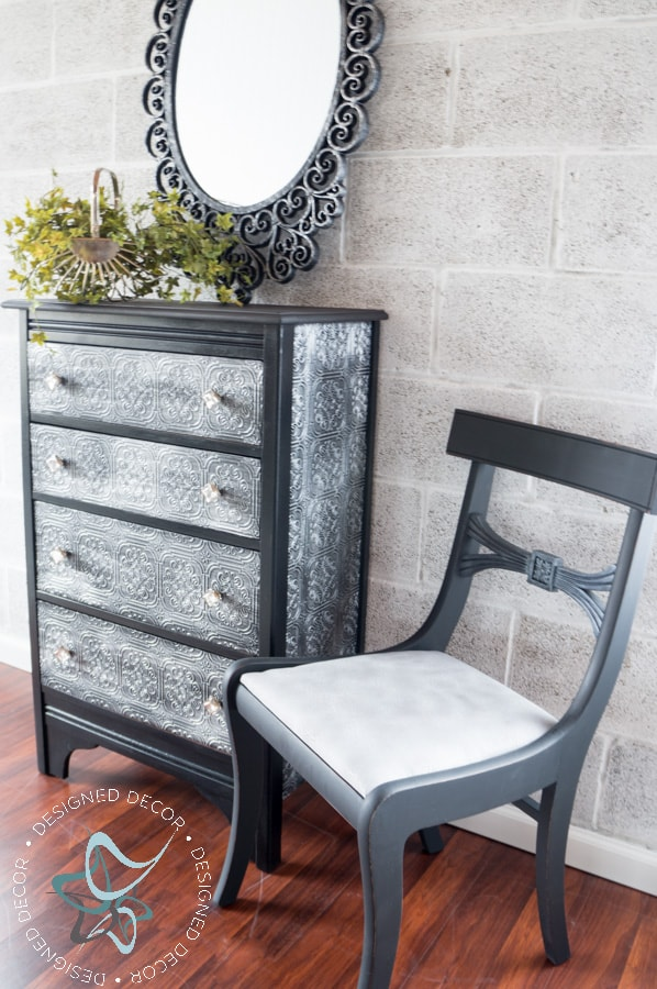 Textured-WallPaper-Dresser- GeneralFinishes- #Sponsor-Painted Furniture (12 of 20)