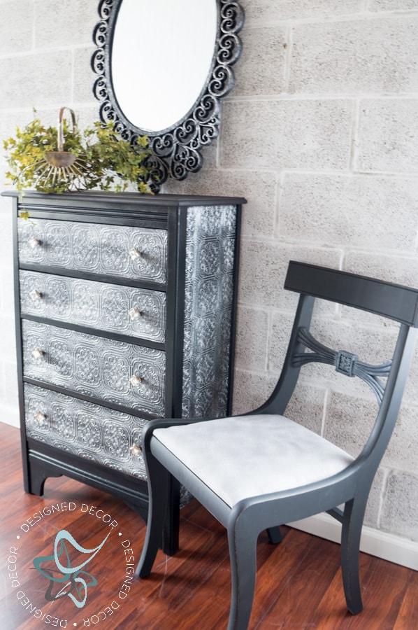 Textured-WallPaper-Dresser- GeneralFinishes- #Sponsor-Painted Furniture (12 of 20)