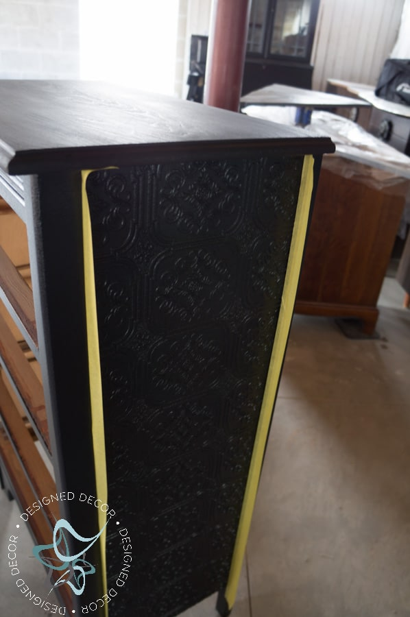 Textured-WallPaper-Dresser- GeneralFinishes- #Sponsor-Painted Furniture (9 of 20)
