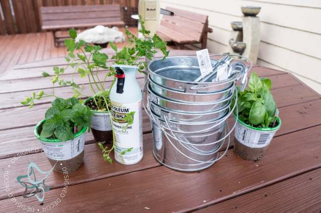 Vertical-Herb-Garden-Repurposed- Ladder-