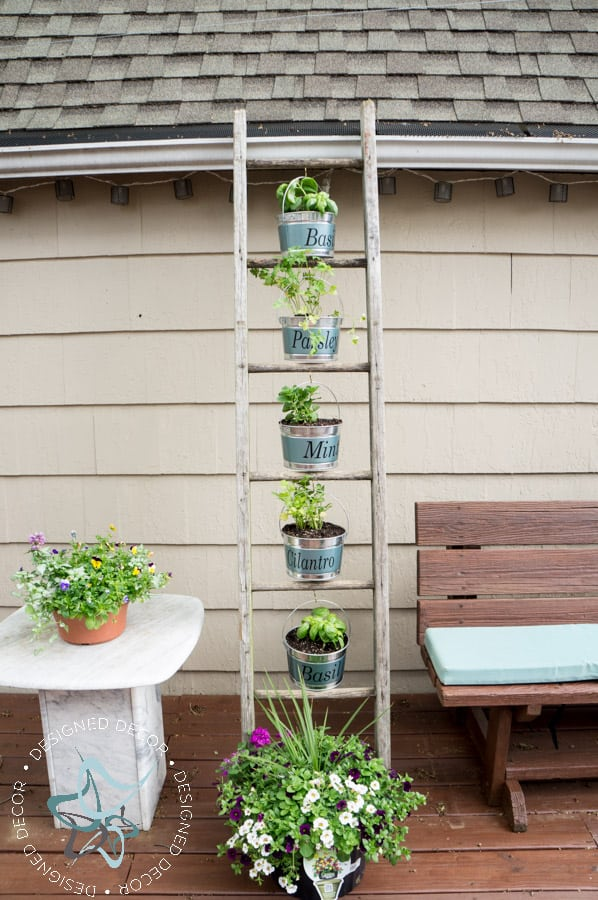 Vertical-Herb-Garden-Repurposed- Ladder-submission-8