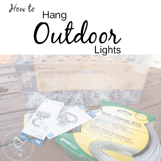 How to Hang Outdoor Lights