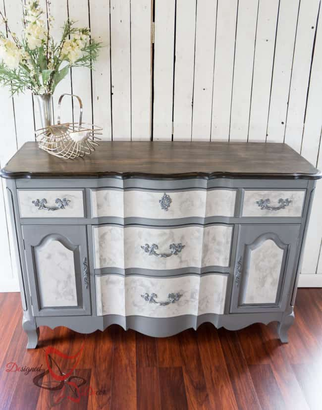 buffet painted with lime paint