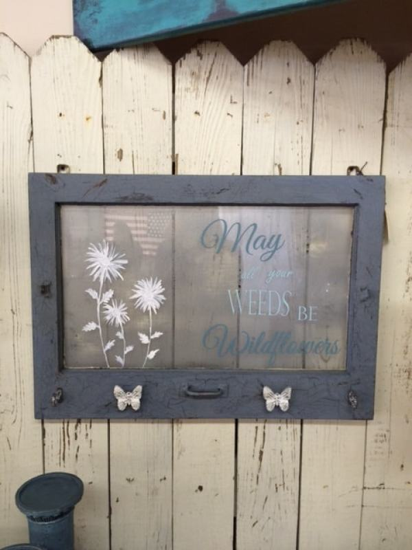 Repurposed Window Wildflower Quotes