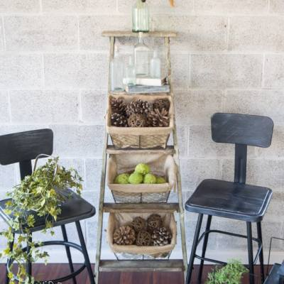 Repurposed Leaning Ladder!