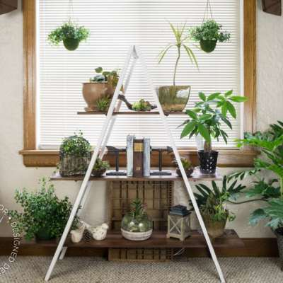 DIY~ A Frame Plant Stand!
