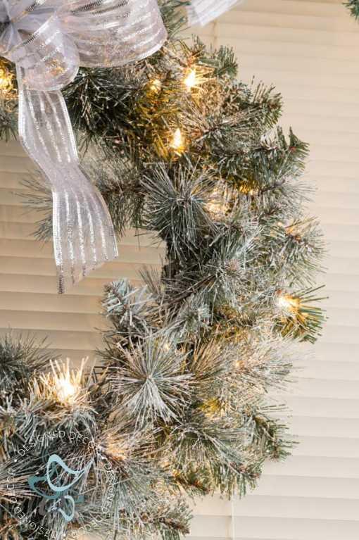 Easy DIY Flocked Christmas Tree and Wreath