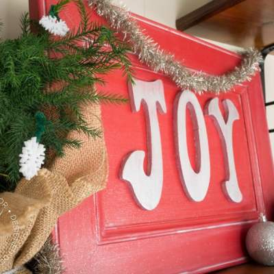 Joy Holiday Sign