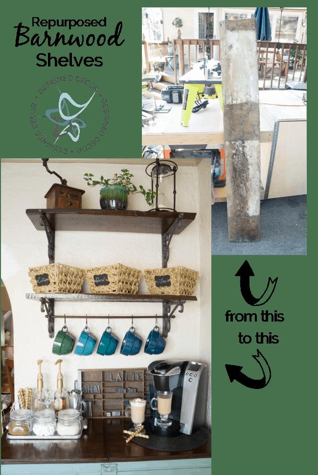 DIY-Repurposed-Barnwood-Shelves-Designed Decor