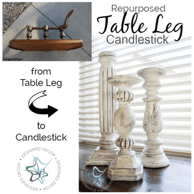 Repurposed Table Leg Candlestick Holder