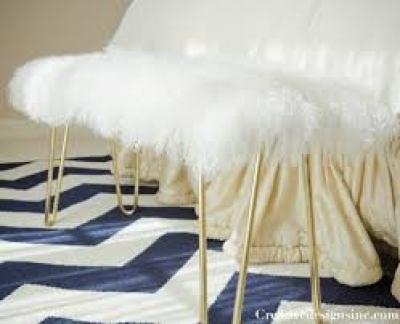 diy-faux-fur-hairpin-bench-cre8tive designs