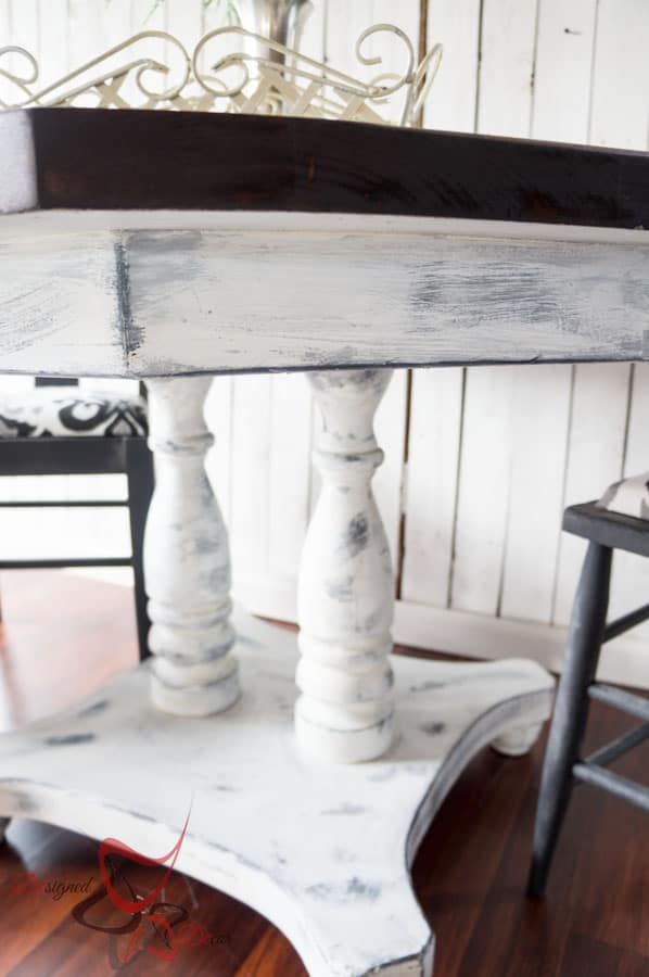 Farmhouse Style Dining Table- Shabby Chic-Repainted Furniture- DIY- Round Dining Table and Chairs- Le Dirt- Aging Dust (9 of 15)