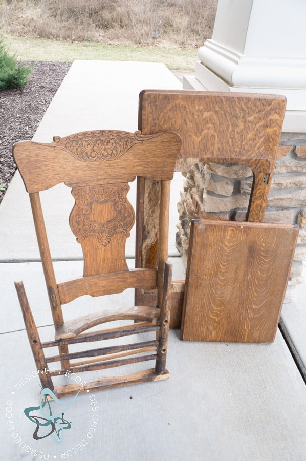 Repurposed Chair Shelf-Towel Holder-6