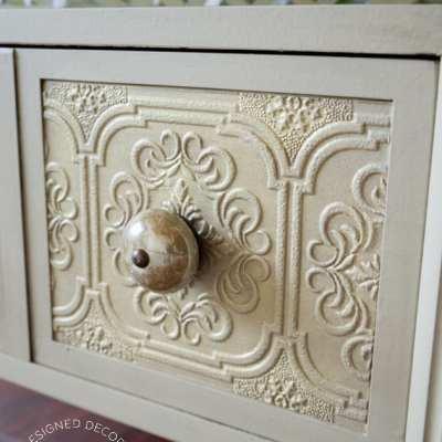 Textured Wallpaper Furniture!