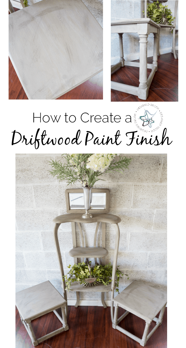 How to create a driftwood paint finish