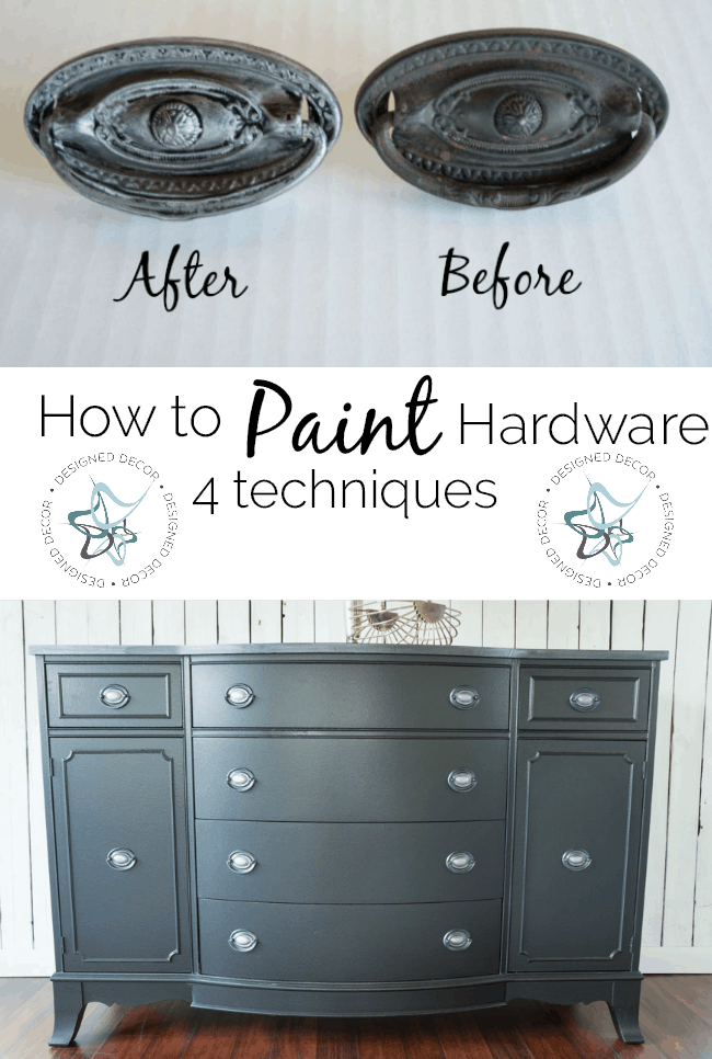 How to Paint Hardware ~- Designed Decor