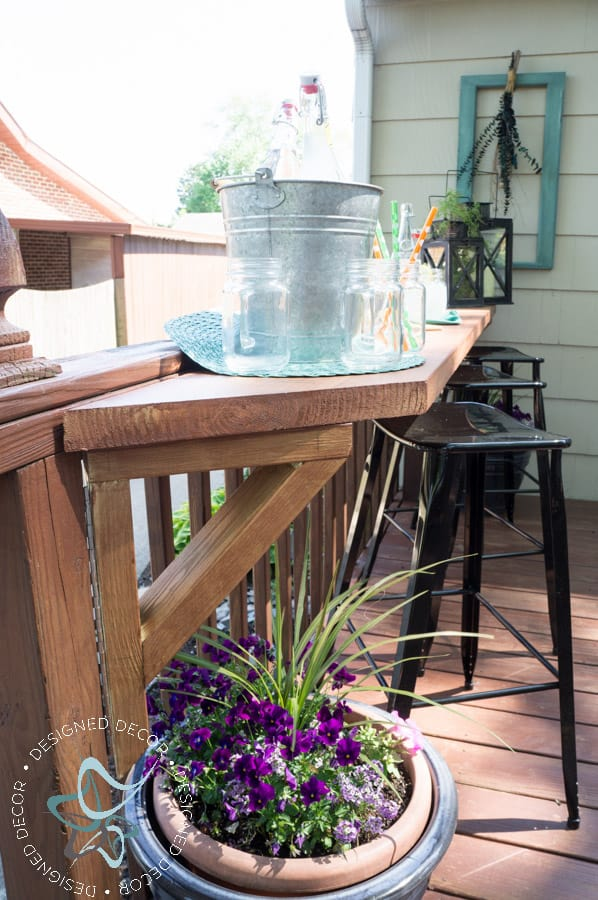 Build a DIY Flip Up Deck Bar  Designed Decor