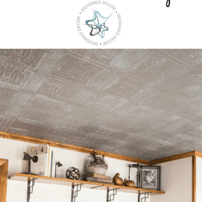 Learn how to create a Faux Tin Tile Ceiling!