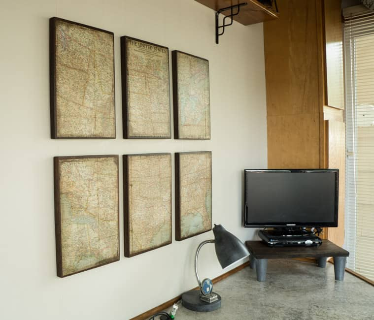 DIY Antique Wall Map