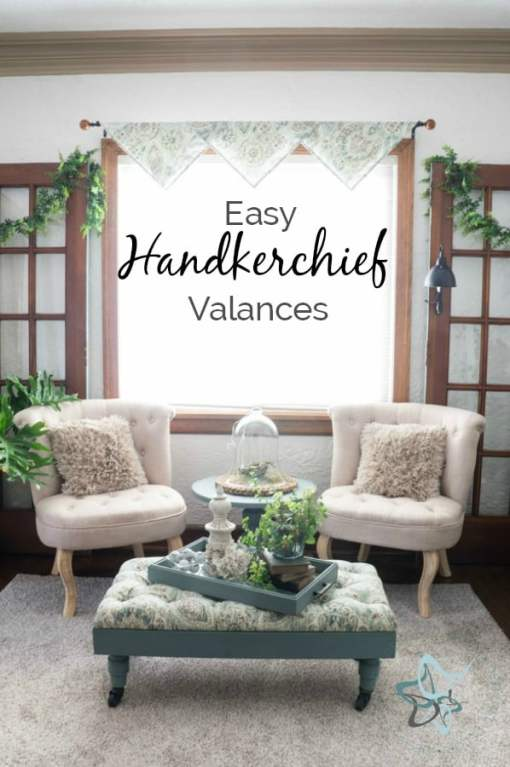 DIY Handkerchief Window Valances