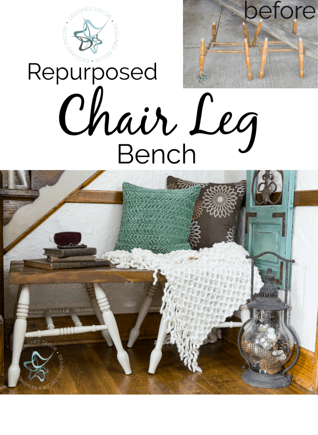 How To Build A Repurposed Chair Leg Bench The Easy Way
