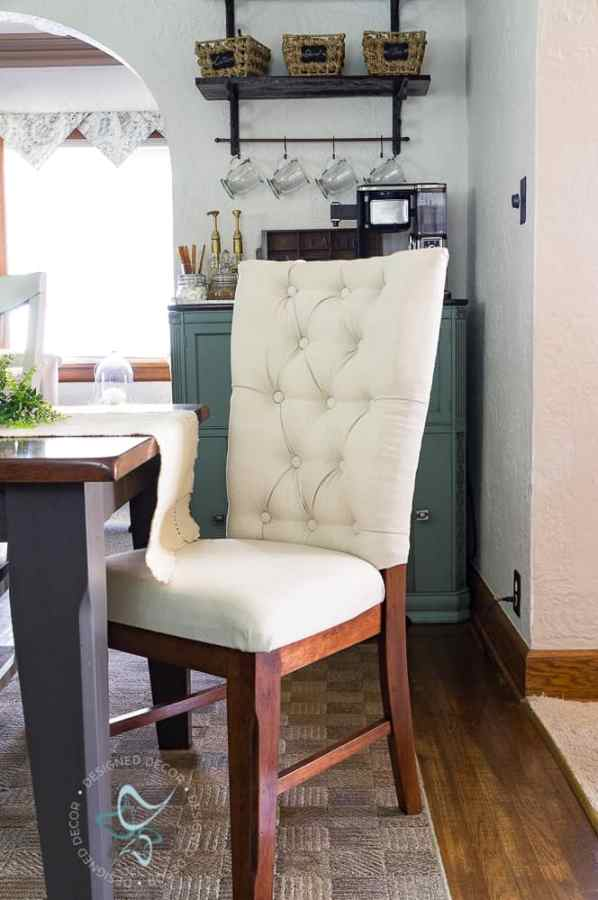 image of a tufted upholstered dining chair