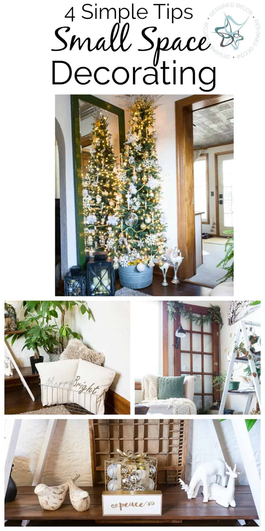 Small Space Christmas Decorating ~- Designed Decor