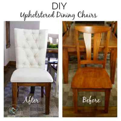 Tufted dining room chairs - before-after
